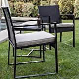 Wicker Patio Furniture 3 Piece Patio Set Chairs