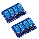 Anmbest 2PCS 4 Channel 5V 10A Relay Module with Optocoupler Low Level Trigger Expansion Board for Raspberry Pi Arduino UNO R3 MEGA 2560 1280 DSP ARM PIC AVR STM32