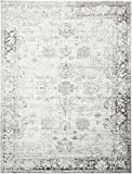 Unique Loom 3134029 Sofia Collection 9 Feet (9' x) Traditional Oriental Distressed Vintage Area Rug, 9 x 12, Gray