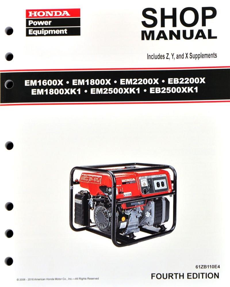 Amazon.com : Honda EB2200 EB2500 EM1600 EM1800 EM2200 EM2500 Generator  Service Repair Manual : Garden & Outdoor