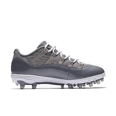 Nike Mens Air Jordan XI 11 Retro Low TD Football Cleats Medium Grey White  c57423f89