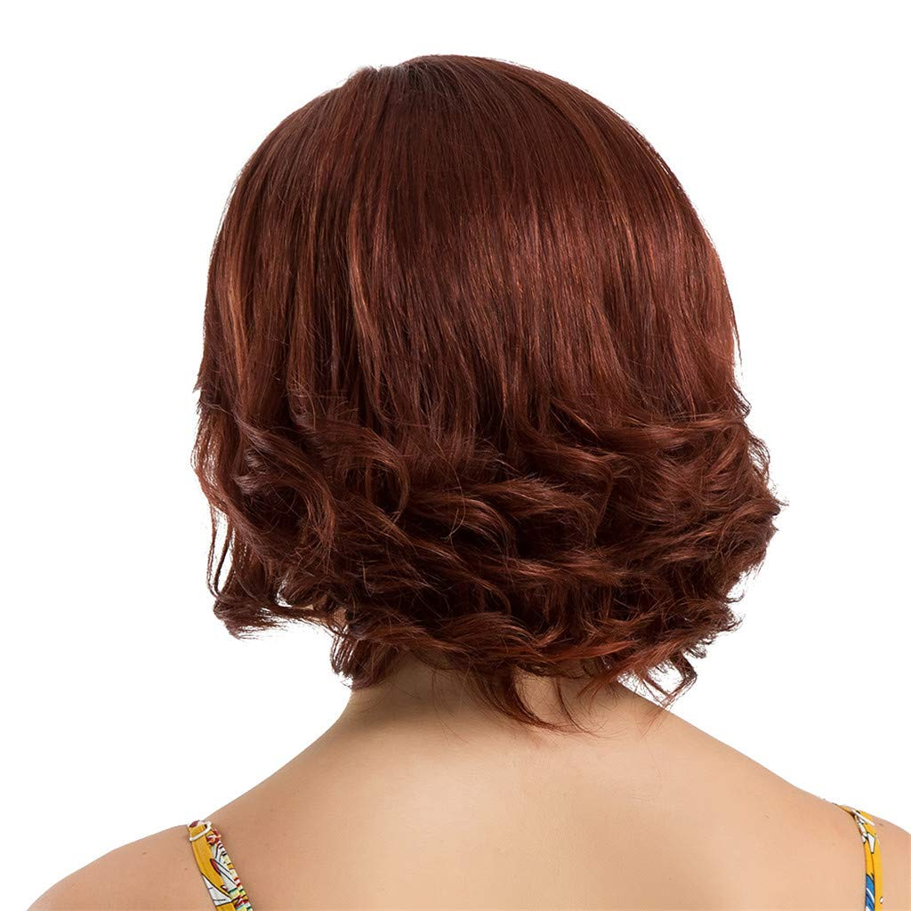 Wig,SUPPION Fashion Women 30 cm Short Curly Hair Hairstyle Human Hair Wigs Beautiful and Natural - Cosplay/Party/Costume/Carnival/Masquerade (A) by SUPPION (Image #4)