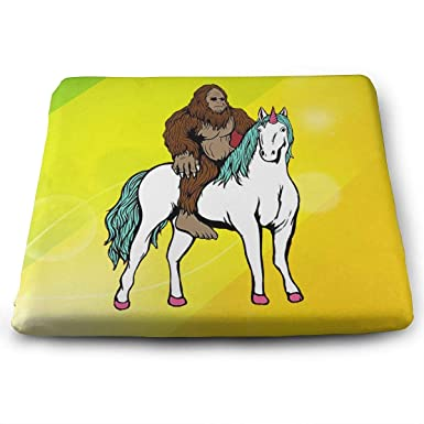 Genial Seat Cushion For Office Chair, Bigfoot Riding Unicorn LGBT Home Office  Decoration Square Seat Cushion