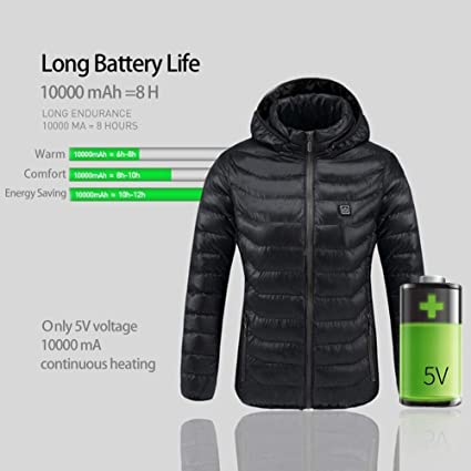 Amazon.com: Electric Heated Jacket-USB Rechargeable Heating ...