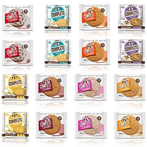 Lenny & Larry's Cookie 8 Flavor Variety With New Flavors - 16 Pack, Two of Each Flavor (16)