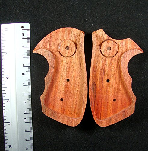 RUAYMAK HANDIWORKGRIPS ROSEWOOD GRIPS SMITH&WESSON REVOLVERS J FRAME, BOTH SQUARE/ROUND BUTT HANDMADE SILVER MEDALLIONS FINGER GROOVE SPORT OUTDOOR SWJ-45