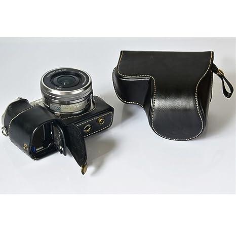 Amazon.com: Dky Funda de piel caso, bolsa para cámara Sony ...