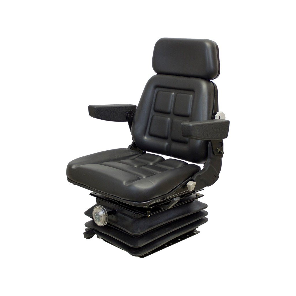 K&M 039-6533 Case 870-2870 Sears Series KM 1004 UNI PRO Seat and Suspension, Black Vinyl