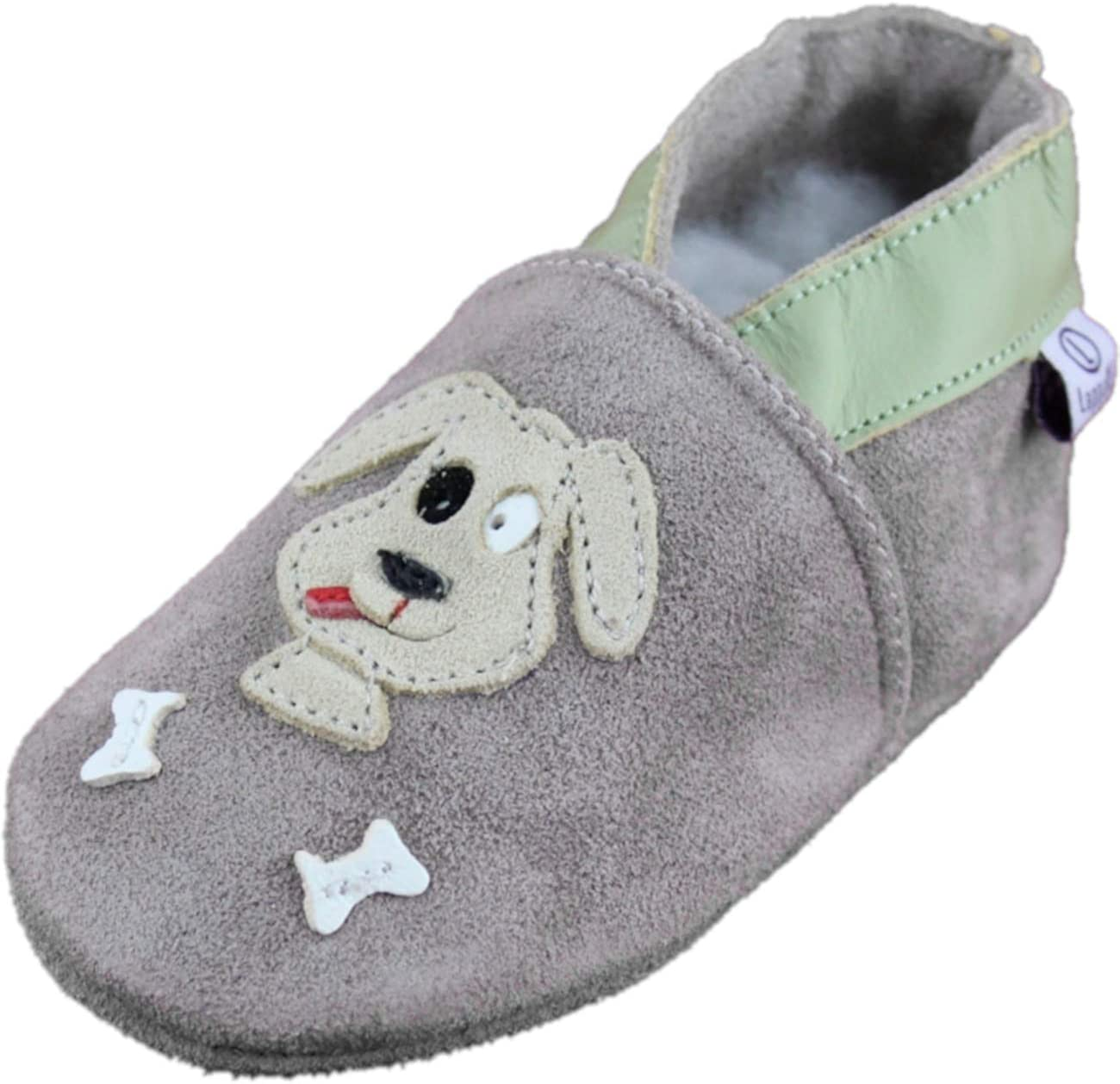 Lappade Leather Slippers Nursery Shoes