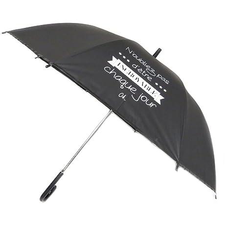 Les Trésors De Lily [P6213] - Bastón de paraguas Messages negro (