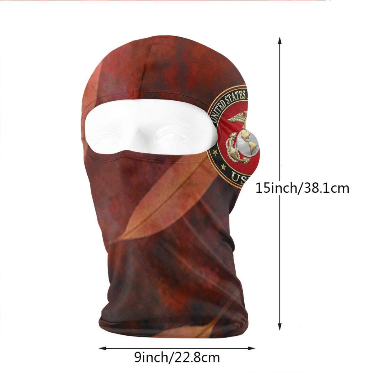 USMC-Eagle Globe and Anchor Full Face Mask Hood for Motorcycle Cycling Bike Hiking Skateboard Balaclava