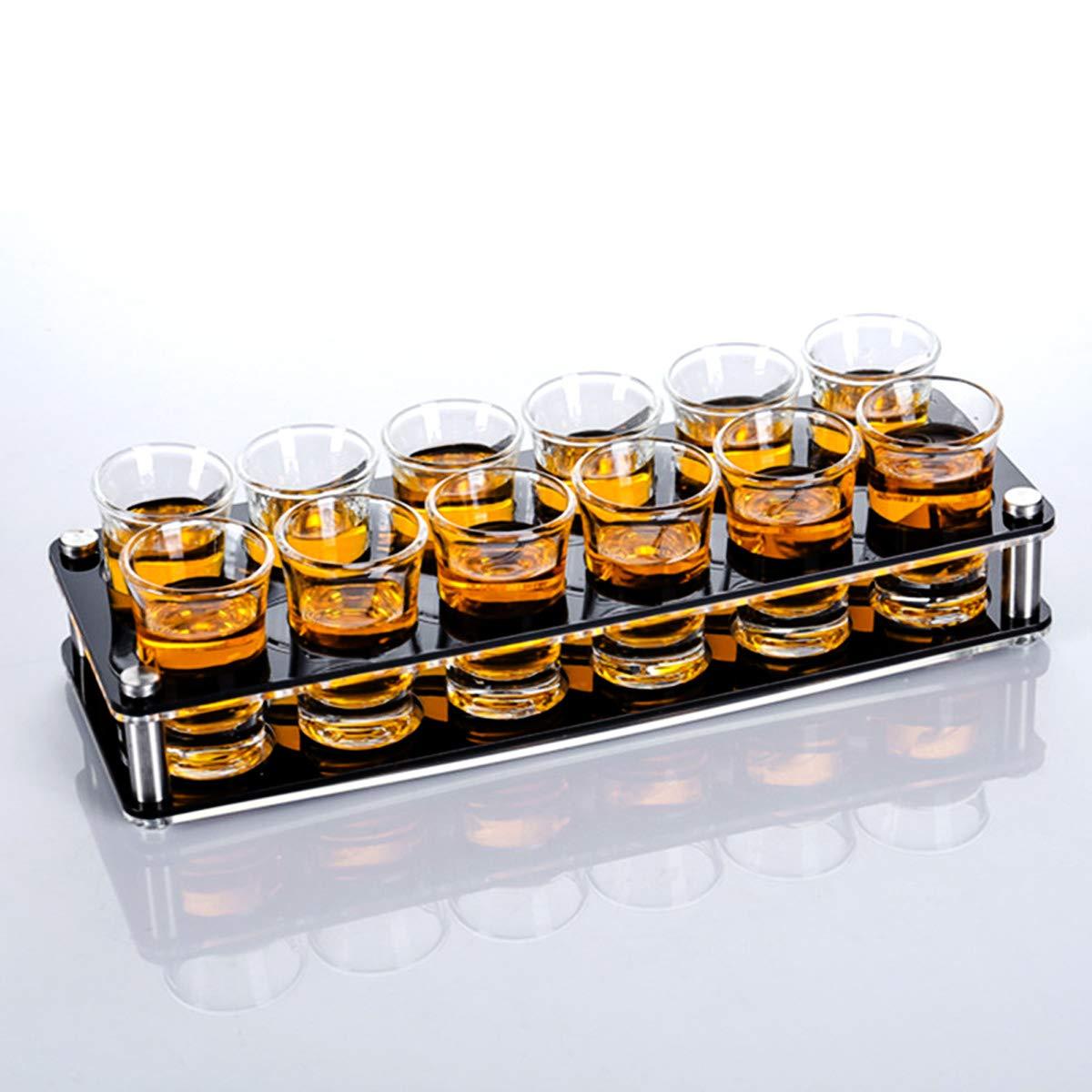 LYY Vasos de Whisky Ultra-Clarity para whisky Vaso Vidrio Transparente Sin Plomo pequeño Copa vino Traje Muy Regalo Ideal,2rowsof12cupsset,25ml: Amazon.es: ...