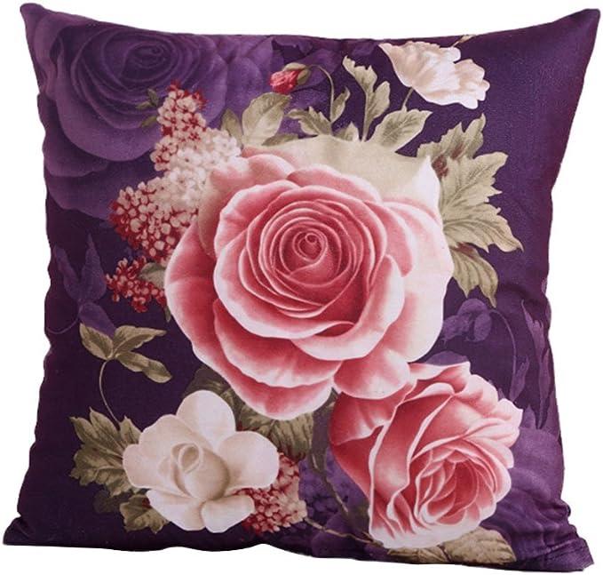 """18 /""""Romantic Blumen Wohnzimmer Kissenbezug Baumwolle Kissenhülle Home Dekokissen"""