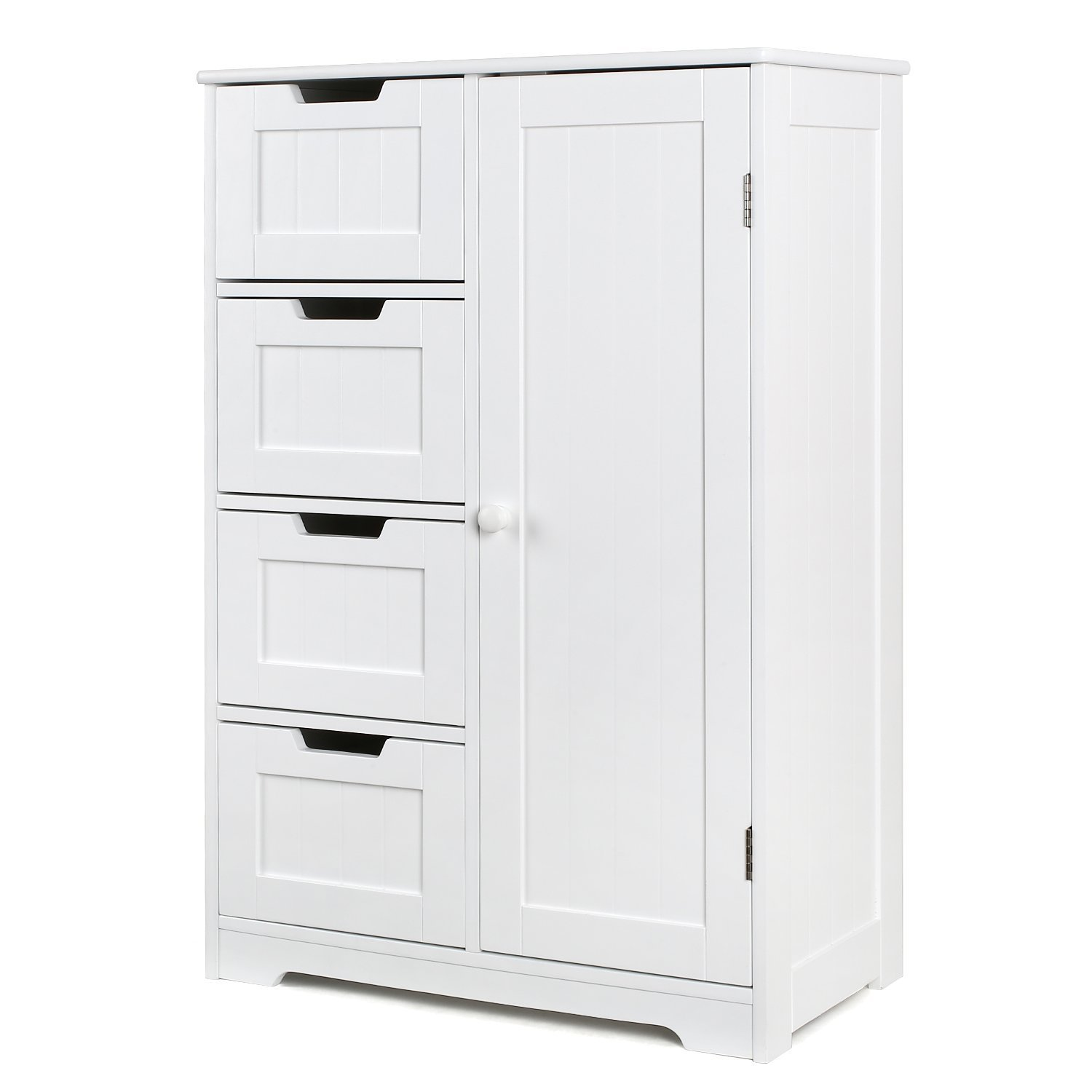 White tall chest of drawers narrow tallboy cabinet bedroom - Bedroom storage cabinets with drawers ...