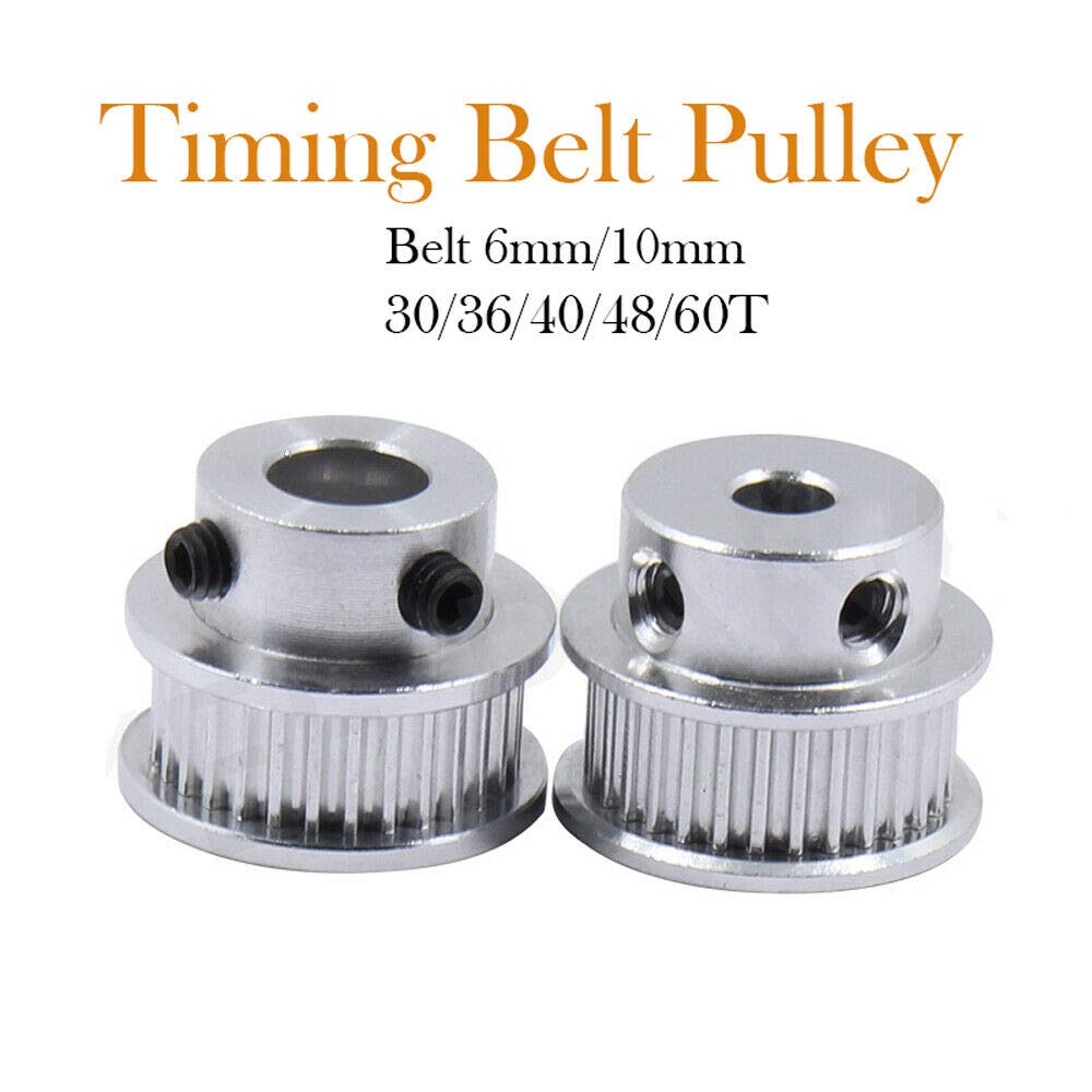30//36//40//48//60 Teeth 5//6.35//8//10//12mm Bore Timing Pulley SENRISE 5PCS Aluminum GT2 Timing Belt Pulley 36T-Bore 8mm-Width 6mm for 3D Printer CNC Width 6//10mm Timing Belt