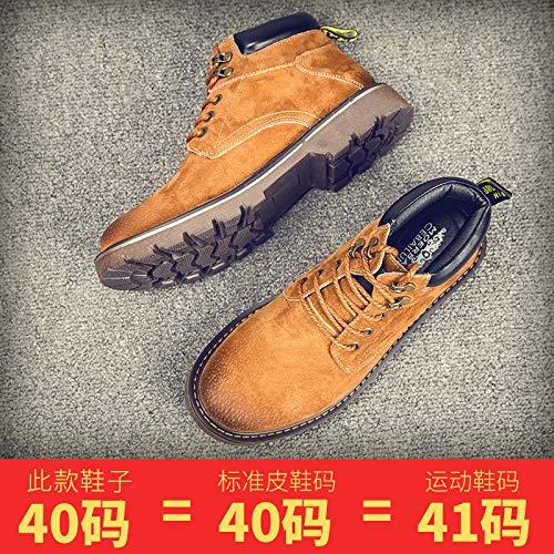 EAOJRSCSA Martin Stiefel Herren Herbst Stiefel Wild Herrenwerkzeug Männer Schuhe Desert Leder Stiefel Männer