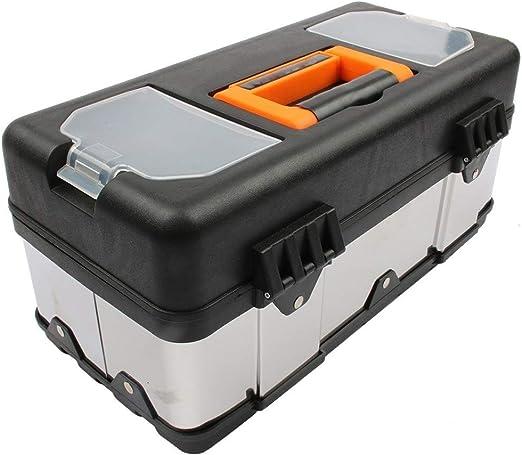 DYHM Caja de Herramientas Herramienta portátil de plástico Grande de Acero Inoxidable Caja de Herramientas del hogar Mantenimiento del Electricista Caja Multifuncional Set: Amazon.es: Hogar