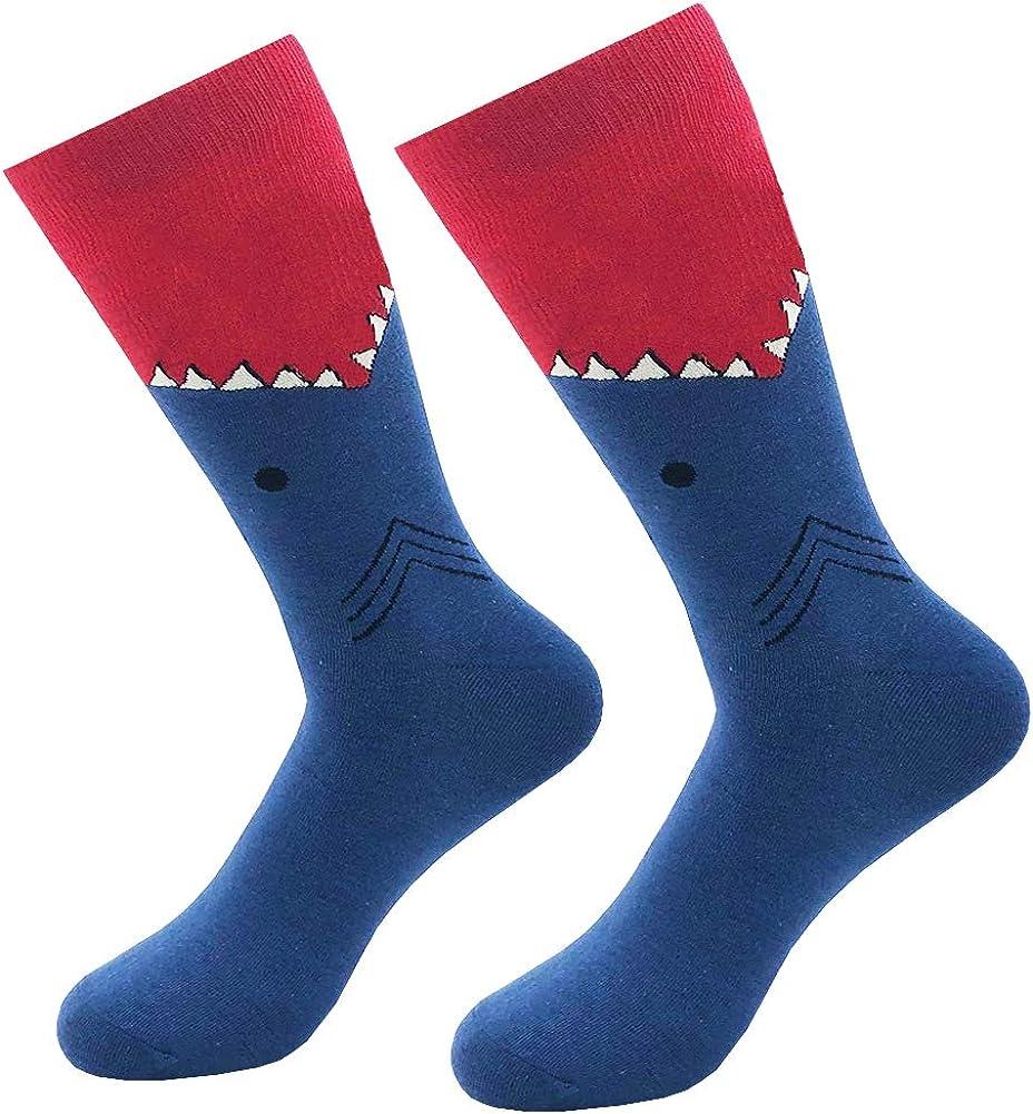 KoolHour Men's Original Novelty Socks Crazy Funny Patterned Cotton Crew Casual Dress Socks