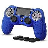 CHINFAI PS4 Controller Schutz-Hülle, Silikon Anti-Rutsch 8 Daumen Griffe Skin Grip Schutzhülle für Sony PS4 / SLIM / PRO Controller(Blau)