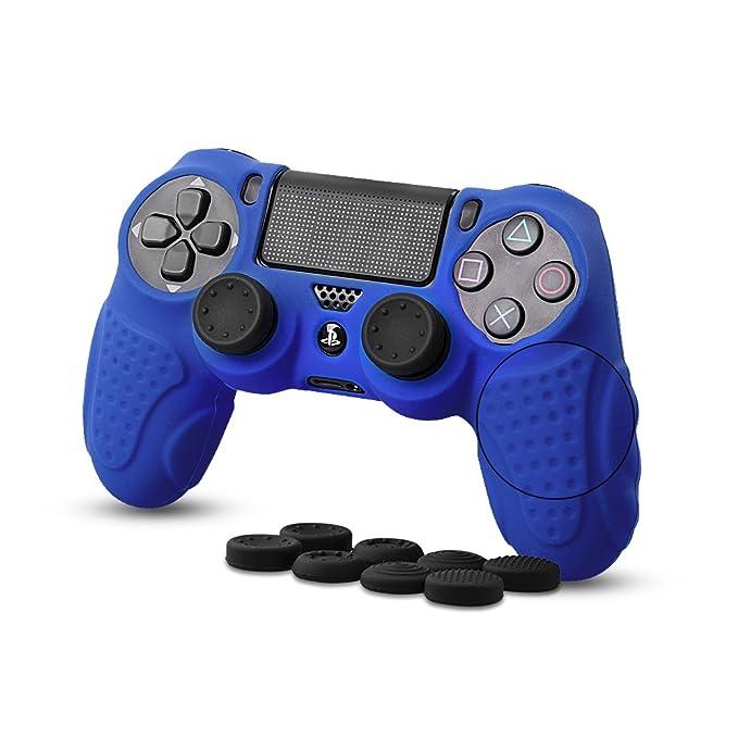 30 opinioni per Custodia in pelle per controller PS4 CHINFAI con 8 prese per il pollice,