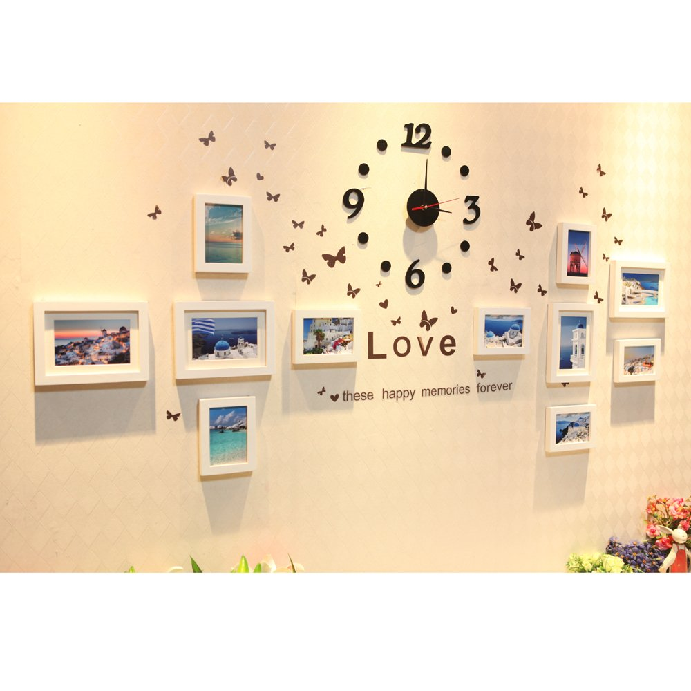 Nice Photo Collage Wall Decor Motif - The Wall Art Decorations ...