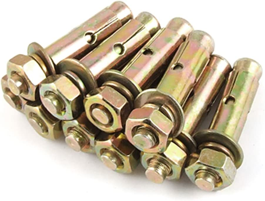 Aexit 10 Pcs Nuts Metal Expansion Sleeve Anchors Bolt M8.2 Panel Nuts x 60mm
