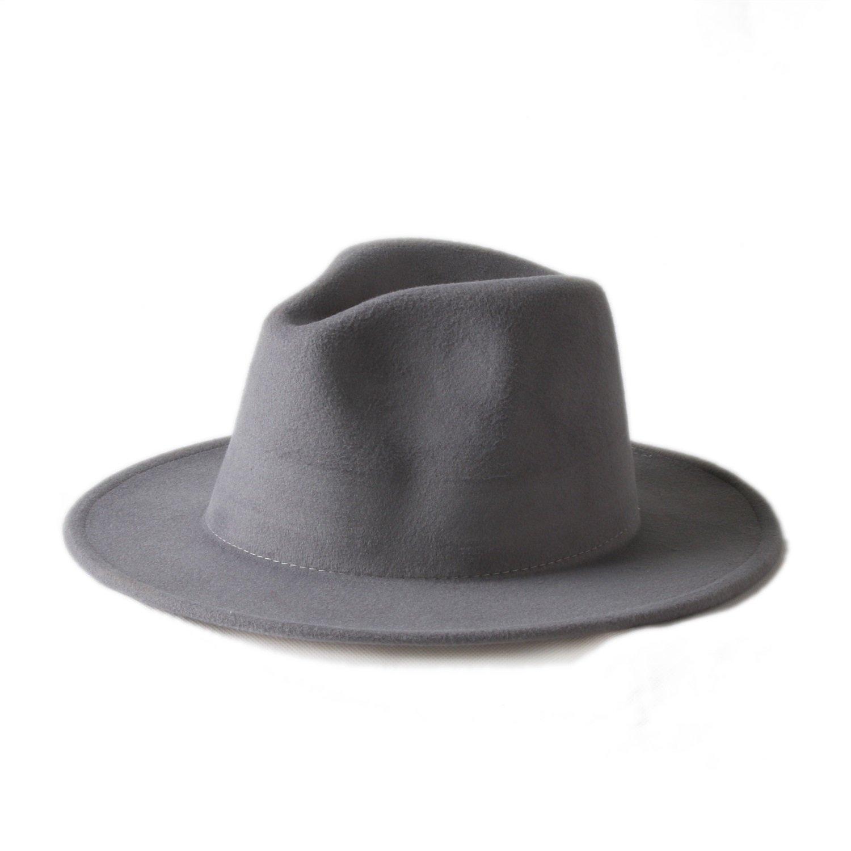 SMC 10 Color Men Women 100/% Wool VTG Wide Brim Felt Trilby Hat BNWT//New Gangster Fedora Hat Church Hat