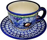 Product review for Polish Pottery Cup and Saucer - Eva's Collection Isabelle
