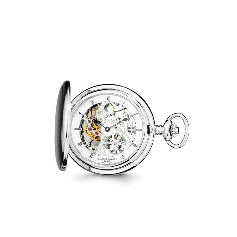 Jewelry Adviser Charles Hubert Watches Charles Hubert Stnlss Stl Skeleton Dial Pocket Watch