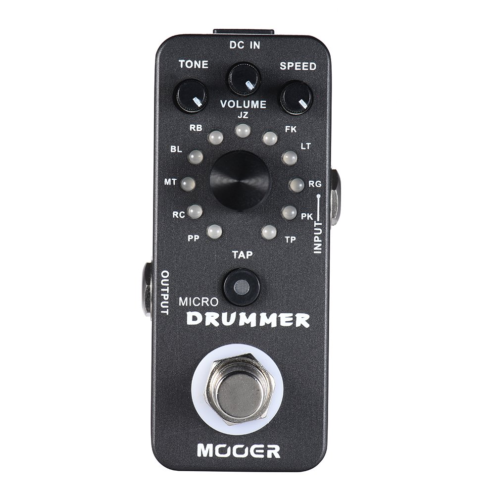 Muslady MOOER MICRO DRUMMER Digital Drum Machine Guitar Effect Pedal With Tap Tempo Function True Bypass Full Metal Shell by Muslady
