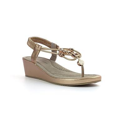 Lilley & Skinner Flaches Sandale im Silbernen Leder für Frauen Größe 38 - Mehrfarbig 2fbdzBA
