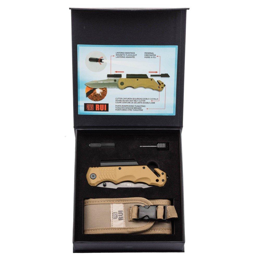 Amazon.com: Tactical Pro plegable knive K25 9,5 cm Coyote ...