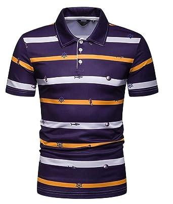 GRMO - Polo de Golf para Hombre, Manga Corta, Talla Grande ...