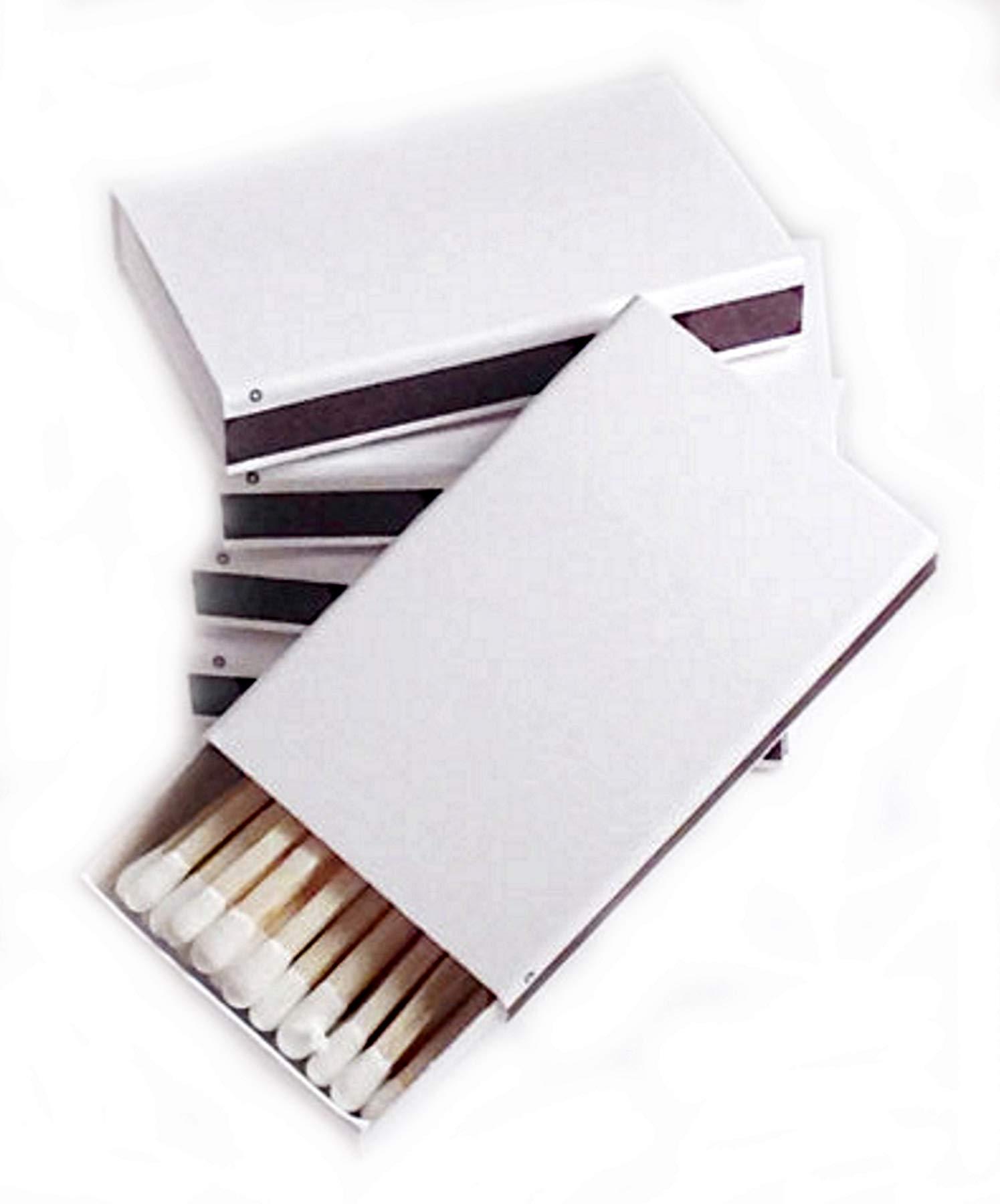 Party Favors Plus 50 Plain White Cover Wooden Matches Box Matches by Party Favors Plus