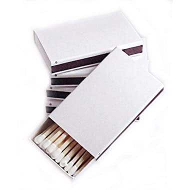 Party Favors Plus 50 Plain White Cover Wooden Matches Box Matches