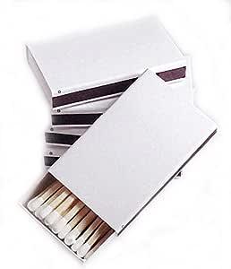 Party Favors Plus 50 Plain White Cover Wooden Matches Box Matches