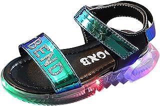 Baby Shoes Abstand Unisex-Kinder LED Sneakers Mode Blinkschuhe Low-Top Casual Outdoor Sneakers Laufschuhe Sportschuhe Hallenschuhe für Jungen und Mädchen Größe 21-30