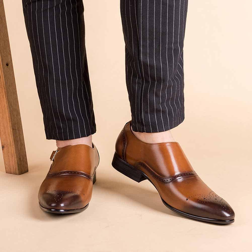 GLSHI Männer Spitzen New Oxford New Spitzen British Carved Geschäft Casual Lederschuhe Fuß Schnalle Faule Schuhe Anzug Bankett 77b7d6
