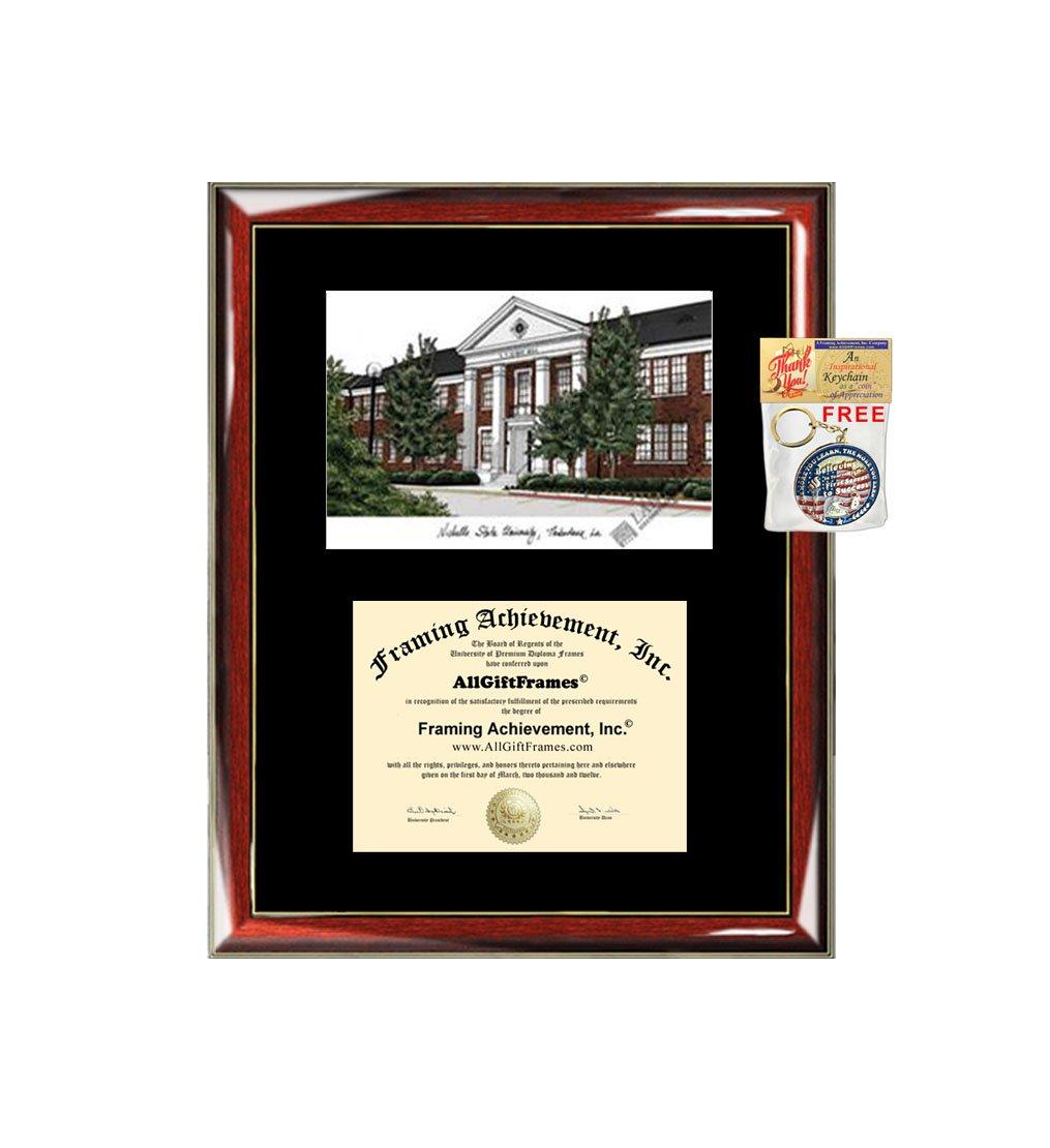 Diploma Frame Embossed Seal Mahogany Gold Trim Laminated Visuals Northwestern University Wildcats