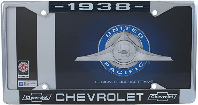 Vintage Parts 553952 RAD 48 White Stamped Aluminum European License Plate