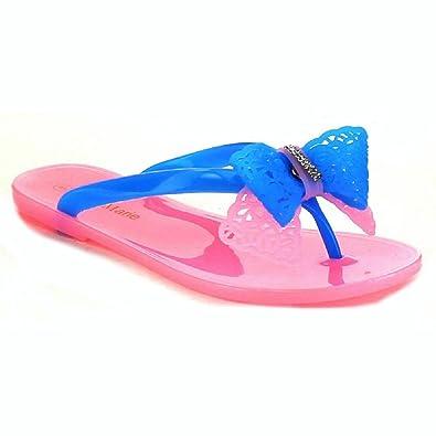 0b08a8c8344578 Bella Marie Jolin-2 Womens Sweet Jelly T-Strap Flat Flip Flop Thong Sandal