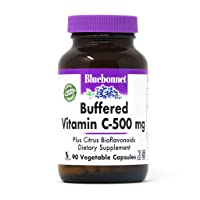 BlueBonnet Buffered Vitamin C 500 mg Vegetable Capsules, 90 Count, White (743715005686)