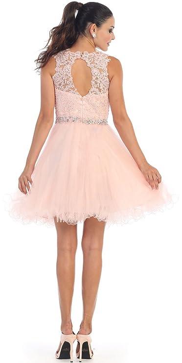 Amazon.com  May Queen MQ1280 Semi Formal Homecoming Dress  Clothing aa12e974d