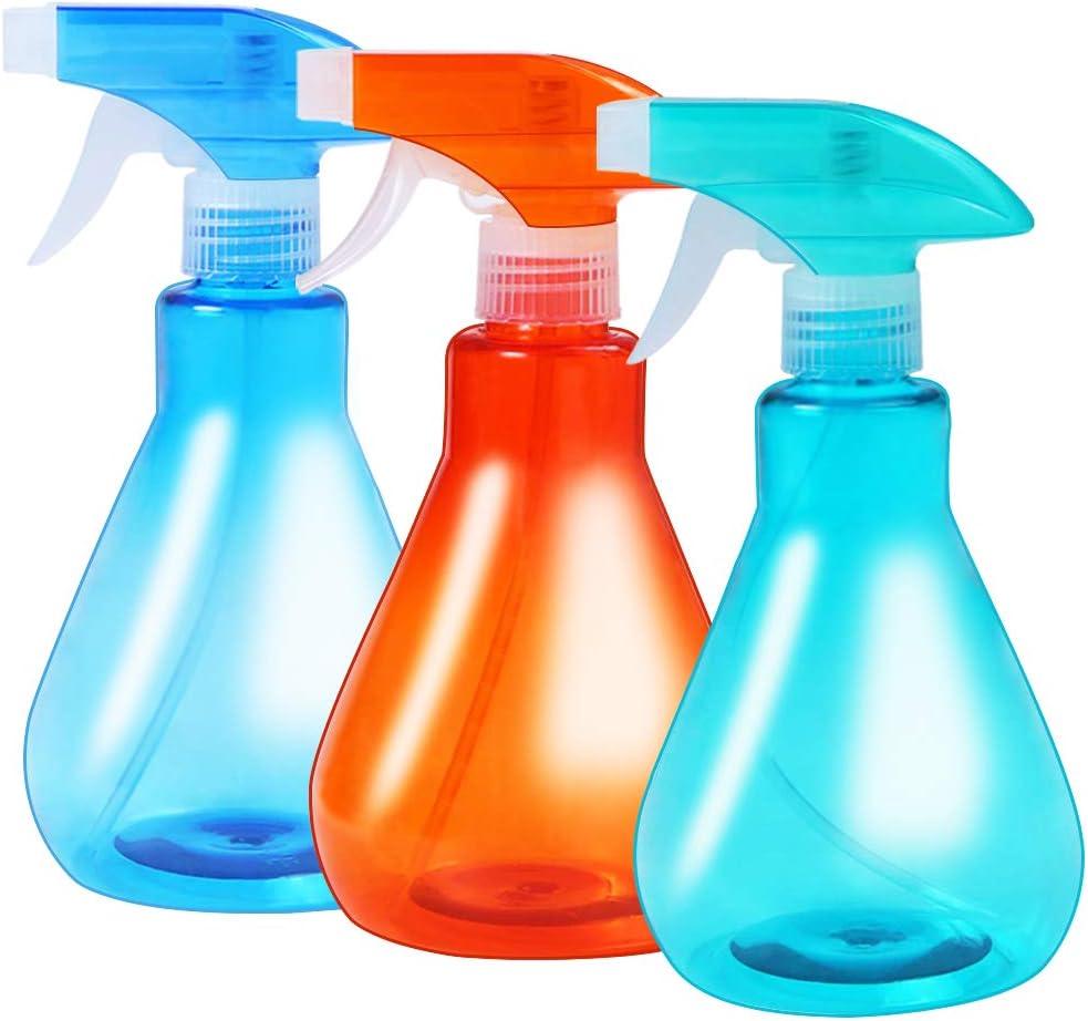 3 Pack Plant Mister Spray Bottle Indoor,16Oz Empty Plastic Spray Bottles Fine Mist Trigger Sprayer for Cleaning Solution Gardening