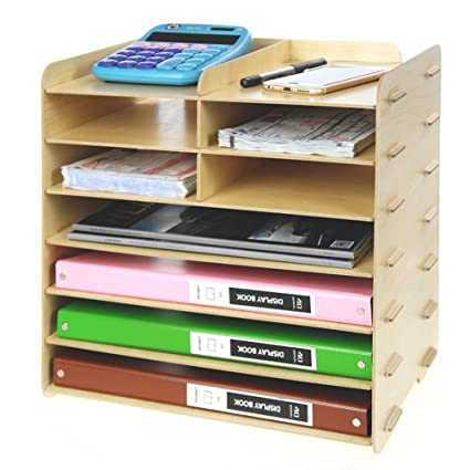Menu Life Decorative Wooden File Cabinet Document Magazine Folder Holder A4 A5 Size Literature Sorter,
