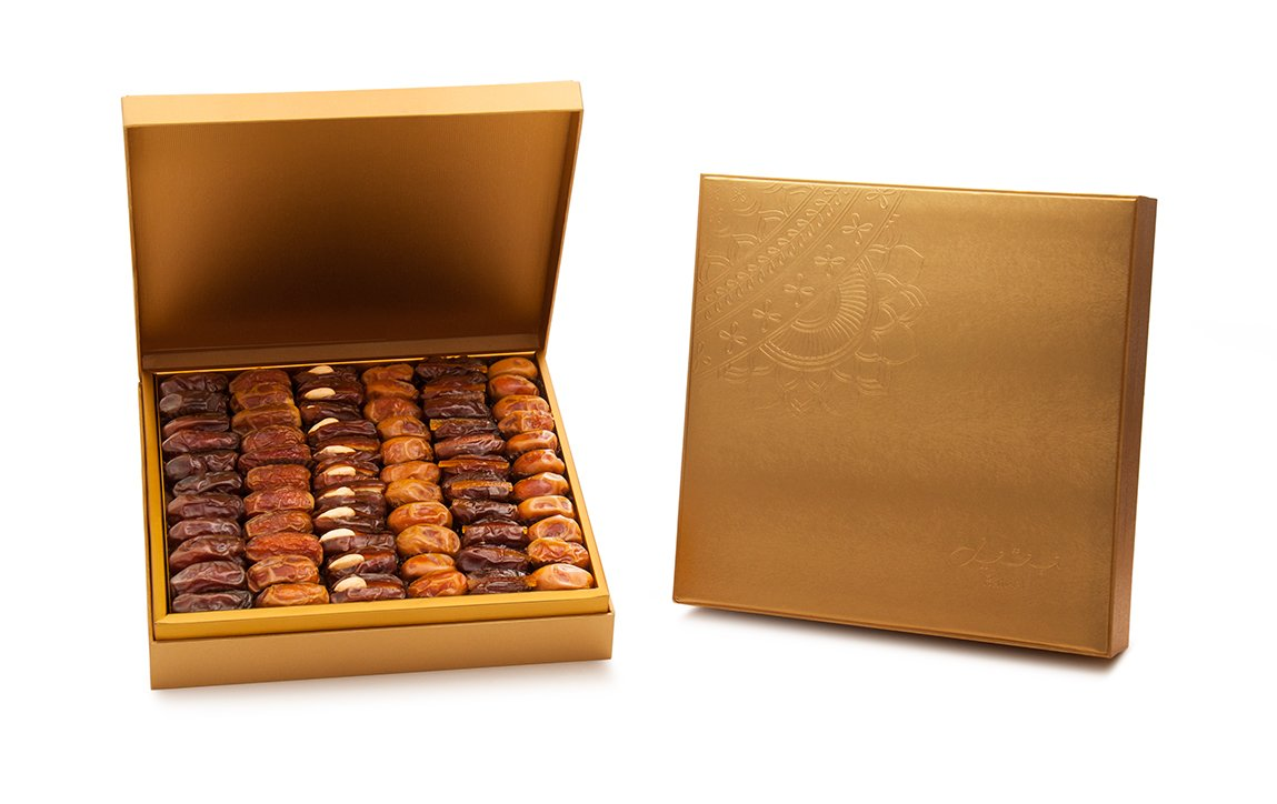 Danica Gold Gift Box with Gourmet Stuffed Dates (144 Pieces)