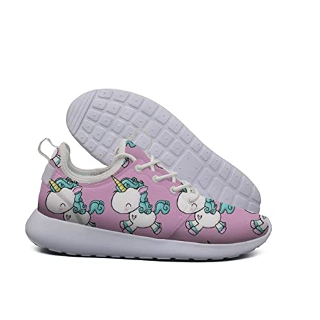 e8e04b86e9c6 Cute Pink Unicorn Pattern Boy Sneakers for Men New Quick-Drying Male  Running Shoes