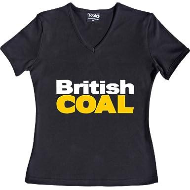 British Coal V-Neck Black Women s T-Shirt Size 6 (XS) ( ef51eaeb0c