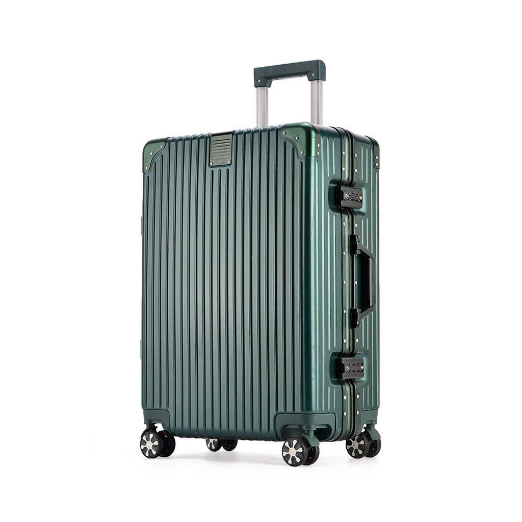 荷物の軽量のABS 4つの車輪が付いている堅い貝のトロリー旅行スーツケース、コンビネーションロックが付いているABSポリエステル、濃緑色 B07MHZ1M8K  26*45.5*70cm