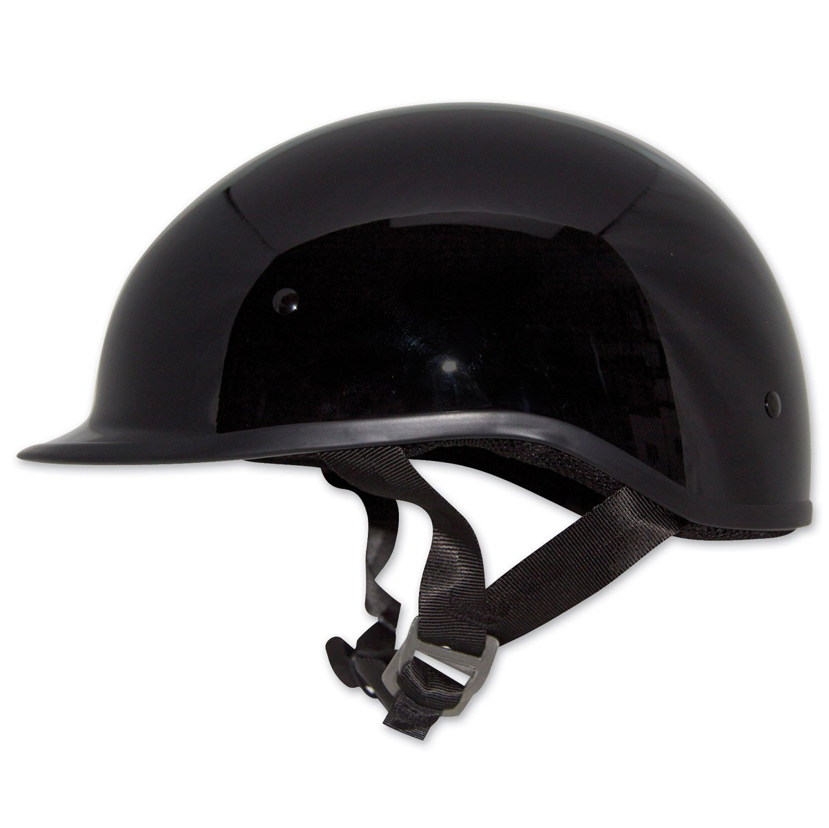 Zox Polo Sport Solid Black Half Helmet, XS